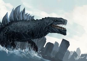Good Morning Godzilla by oshirockingham