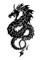 tribal dragon serpant tattoo by Hidden-Treasury