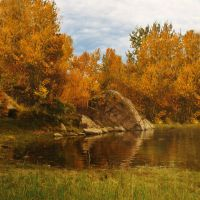 Autumn Pond Premade Background 1 by VIRGOLINEDANCER1