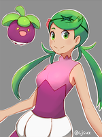 Mallow as Steenee Gijinka by CJsux