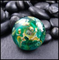 Serendipity - Glass Lampwork Cabochon by andromeda