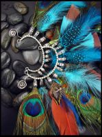 Feather Ear Cuffs by andromeda