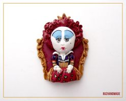 Red Queen Clay Charm by buzhandmade