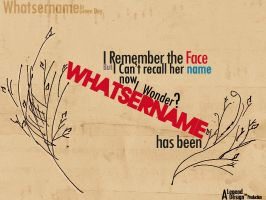i Wonder whatsername by LegenDesign