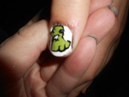john's ghostie nail art by Agathanaomi