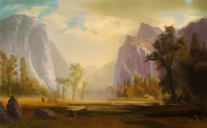 Bierstadt study yosemite valley by conceptfox