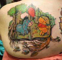 Pooh Tattoo by dmillustration