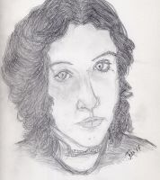 a self portrait in pencil by meaikoh
