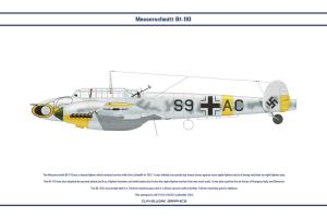 Bf 110 D ZG1 2 by WS-Clave