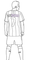 Lineart de David Villa 7 FC B. by Gokunks
