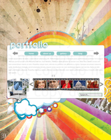 Colourful Portfolio Layout by theycallmebrettly