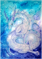 Underwater dragon by Kyuubreon