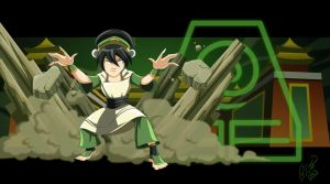 Toph Bei Fong: The Blind Bandit by racookie3