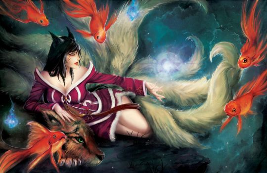 Ahri - The NineTailed Fox by FalseDelusion