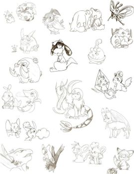 Pokemon Doodle by Nid15