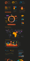 Crooked Stats Infographic Kit by webdesigngeek