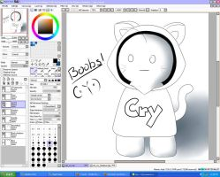 Cat Sup Guy With Shading! D8 by Thebabyduck