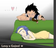 Kinda cute... Gajeel x Levy by raspberryOo