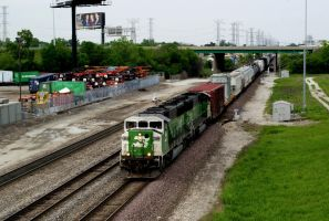 BNSF Greens Heading For Galesburg by JamesT4