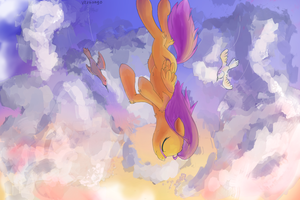 Scootaloo Livingston - Pony Story by Vertiliago