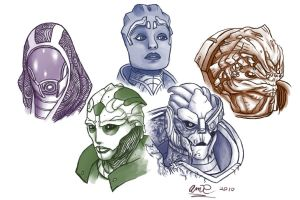 Aliens of Mass Effect 2 by BloodyDragon117