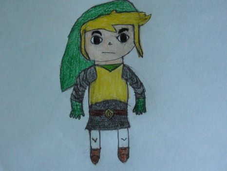 Toon Link with armor by GamingArtist-521