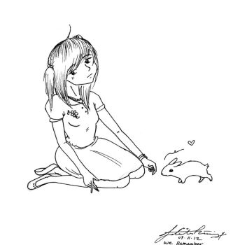 Girl with Bunny by PromisedPrince