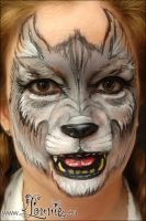 Wolf face painting by Ansigtsmaling