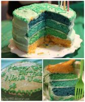 Green Rainbow Cake by irishgirl982