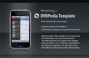 DVDpedia Template for iPhone by cypher7