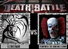 Death Battle Idea - Slenderman Vs Pennywise by Stormtali