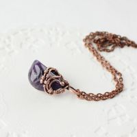 Cute pendant with amethyst by WhiteSquaw