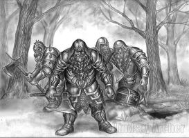 Dwarven Brothers by LinzArcher