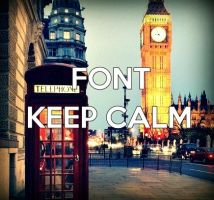 FONT KEEP CALM by LuuEditionsSwag