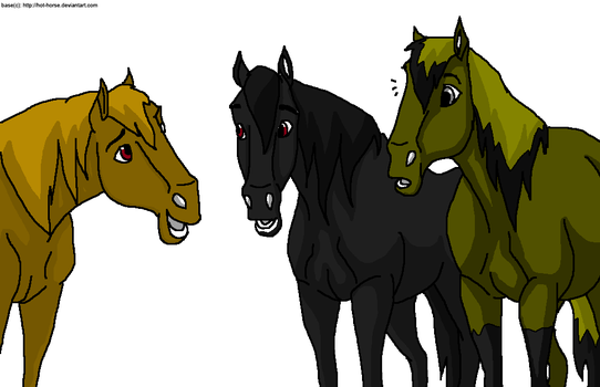 All 3 in horse form by KayaNightmare