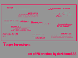 Text brushes set by darkdana666