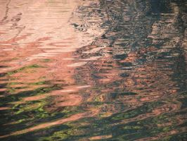 Sunset ripples and reflections by dsimple