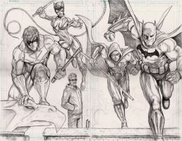 Batman Arkham City pencils by WiL-Woods