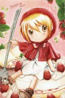 Little Strawberry Riding Hood by PinkuRabbit