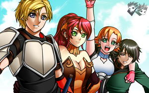 Artwork: Team JNPR Wallpaper by jadenkaiba