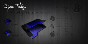 Dark Blue Empty Folder Icon by Drawder