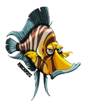 GOLD HEAD FISH by Porkchop-ART