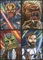 Star Wars sketch cards 2 by Reznorix