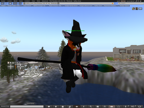 izzy on her broom of rainbows by legoshane