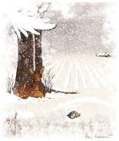 winter illustration by Moryah