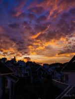 Colourful Sunset by Becwa
