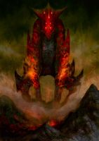 Fire Colossus by elbardo