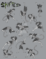 Shifted: Action Pose Sheet by Doodlee-a