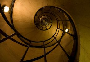 spiral stairs by volkanersoy