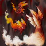 Pokemon - My Fire Starters by kay-lin